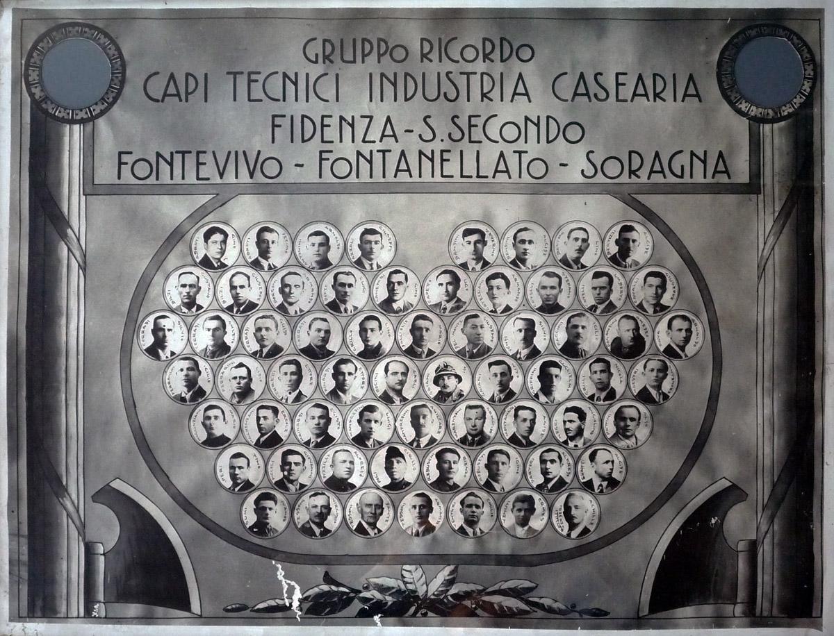 Corso per capitecnici di caseificio, Zona Fidenza, Anni Trenta - (Museo del Parmigiano Reggiano – Dono Eugenia Bertozzi).