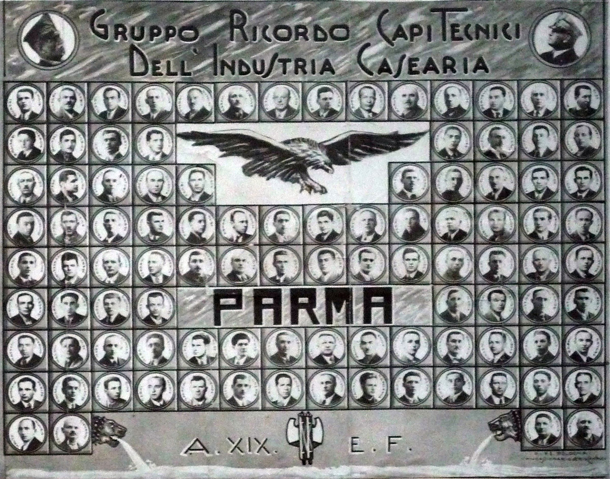 Corso per capitecnici di caseificio, Zona Parma, 1941 - (Consorzio Parmigiano Reggiano, Sede di Parma).