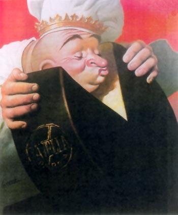 3. Manifesto di Gino Boccasile per il formaggio Tavella (Museo del Parmigiano Reggiano).