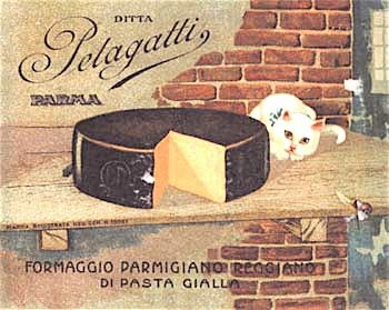 4. Affiche del formaggio Pelagatti (Museo del Parmigiano Reggiano).