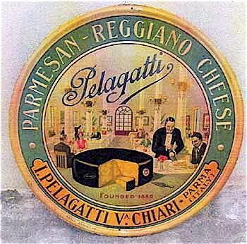 5. Placca del formaggio Pelagatti (Museo del Parmigiano Reggiano).