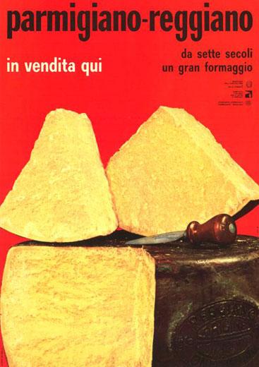 9. Campagna pubblicitaria del 1963 (Consorzio del Parmigiano Reggiano).