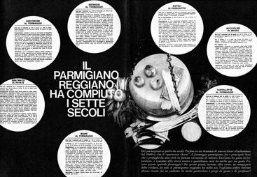 11. Campagna pubblicitaria del 1965 (Consorzio del Parmigiano Reggiano).