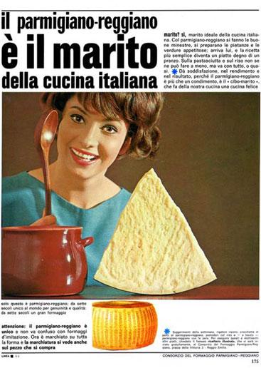 12. Campagna pubblicitaria del 1966 (Consorzio del Parmigiano Reggiano).