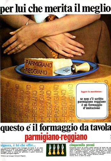 13. Campagna pubblicitaria del 1968 (Consorzio del Parmigiano Reggiano).