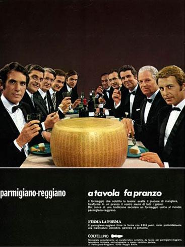 14. Campagna pubblicitaria del 1969 (Consorzio del Parmigiano Reggiano).