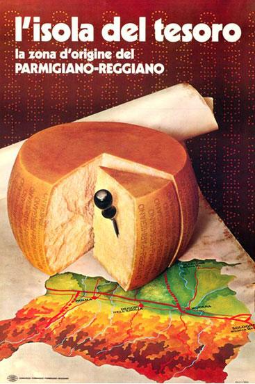 15. Campagna pubblicitaria del 1971 (Consorzio del Parmigiano Reggiano).