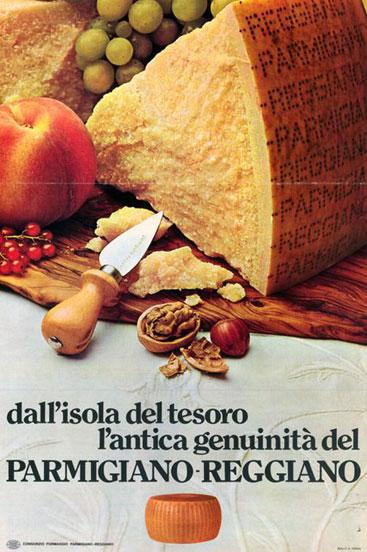 16. Campagna pubblicitaria del 1973 (Consorzio del Parmigiano Reggiano).