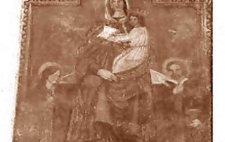 San Bartolomeo Val Cavargna (CO) – Diocesi di Milano - Affresco murale in facciata ex Trattoria (1667)
