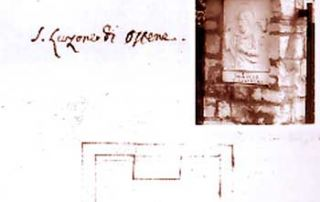 Osteno – (Claino con Osteno) (CO) – Diocesi di Milano - Oratorio di San Luzone (Pieve di Porlezza), demolito – Maestà con formella in marmo