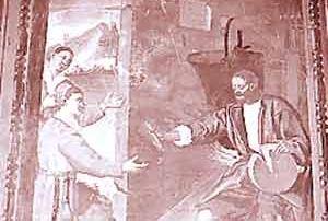 Medeglia (Val d'Isone) – Diocesi di Lugano - Chiesa parrocchiale di San Bartolomeo, Dipinto murale, Giovanni Finale (?) (1689)