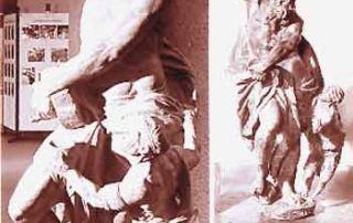 Diocesi di Milano - Duomo – Museo del Duomo, Statua di Sant'Uguccione, Carlo Pagani (1687), bozzetto in terracotta e statua in marmo