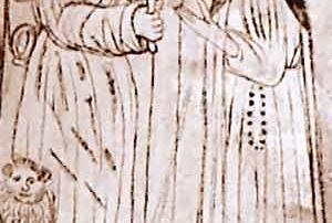 Abbiategrasso (MI) - Chiesa di Santa Maria Nuova, Dipinto murale (XV secolo, seconda metà) - Diocesi di Milano - Graffito collocato sulla parete destra della Cappella di San Giovanni Battista. Entro minuscoli e sobri ambienti architettonici, nel registro inferiore della decorazione muraria si ravvisa, insieme ai santi Gerolamo, Domenico, Ambrogio, la figura di San Lucio. Scoperto solo nel 1978, quando la caduta di un frammento di intonaco ne rivelò la presenza, l'affresco è concordemente datato alla seconda metà del XV secolo, anche in virtù della foggia degli abiti dei personaggi rappresentati. San Lucio, oggetto di culto antico nella zona di Abbiategrasso, famosa, fin dall'antichità per le sue attività casearie, viene rappresentato con una lunga veste dotata di cappuccio, con gli zoccoli tradizionalmente usati dai casari, con un coltello e una forma di cacio in mano e con una seconda forma legata alla cintola, mentre dialoga con San Domenico, alla sua destra. La rappresentazione del santo, differisce qui, per l'abbigliamento, che non è il consueto abito corto del pastore. (A. Madesani)