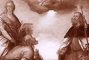Clusone (BG) - Diocesi di Bergamo - Oratorio di San Lucio sul monte Pianone, Dipinto su tela, Domenico Carpinoni (1630 ca.)