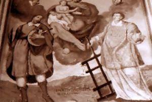 Pizzanco – Frazione Bognanco (Verbania) - Oratorio di San Luguzzone a Pizzanco, Dipinto murale (1652) - Diocesi di Novara