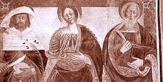 Belgirate (Verbania) - Chiesa vecchia di Santa Maria, Dipinto murale (XVII sec.) - Diocesi di Novara