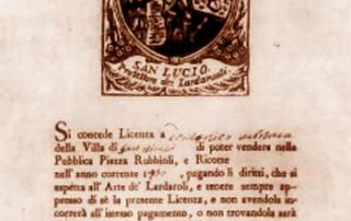 """""""Licenza a vendere con emblema di San Lucio"""": Modulo a stampa del XVII secolo (Parma, Archivio di Stato)"""