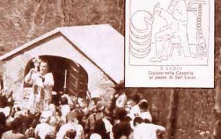 Passo di San Lucio – Cavargna (CO) – Cappellina presso l'Oratorio - Dipinti murali ora scomparsi