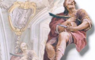 Porlezza (CO) – Diocesi di Milano - Chiesa prepositurale di San Vittore - Affresco di San Lucio, Giovan Battista Pozzo (XVI sec.)